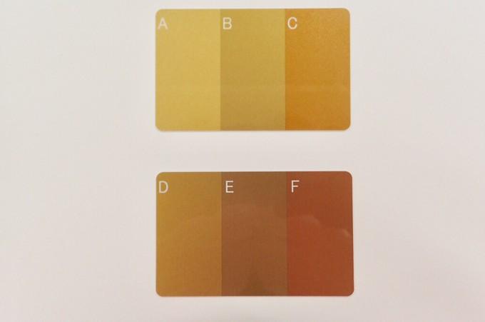 ゴールドカード 6種類の色