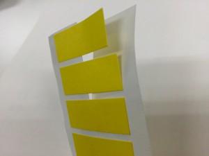 カード+台紙のシール(剥離紙にスリット)