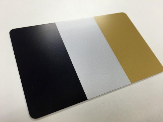 マット加工を施したカード