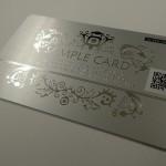 ヘアラインカードへQRコードを印字