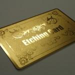 エッチングカード(金)