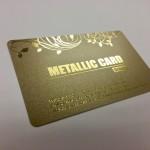 クリスパーメタリックカード(ゴールド)